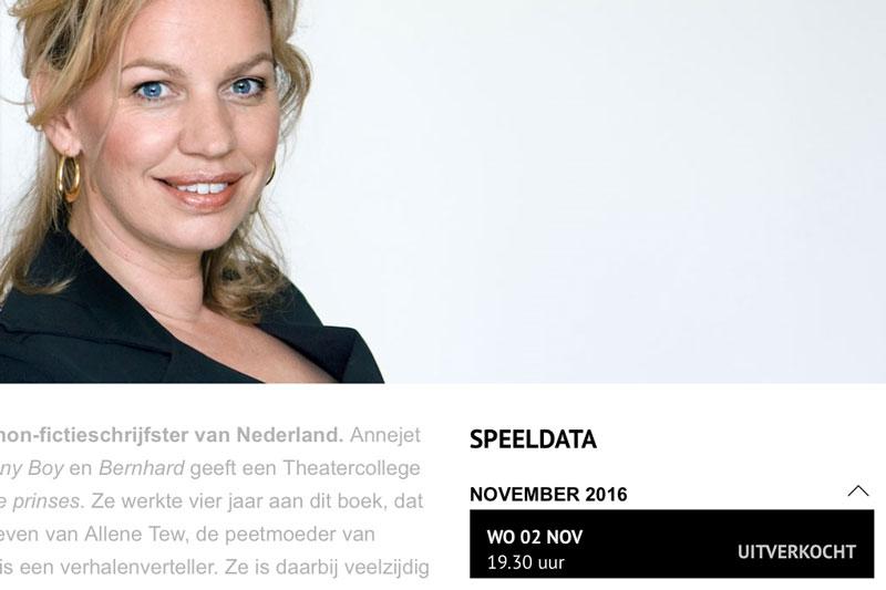 Theatercollege Annejet Van Der Zijl Uitverkocht