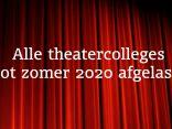 Theatercolleges afgelast door Coronacrisis